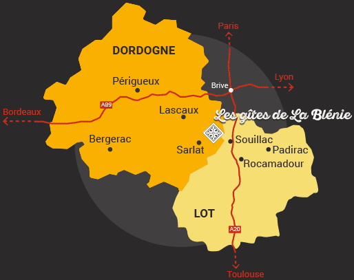 carte Dordogne Lot