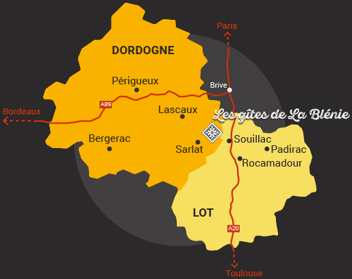 carte Dordogne Lot